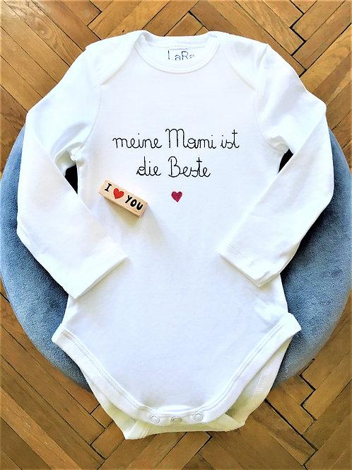 """Statement-BabyBody """"meine Mami ist die Beste"""" in allen Größen"""