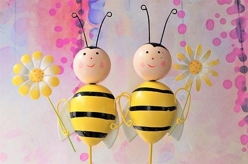 Blumenstecker Biene – 2 verschiedene Modelle – ca. 52 x 12 cm