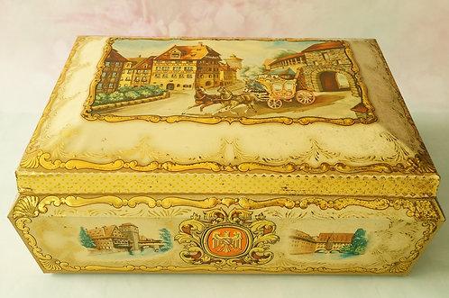 MIDCENTURY – alte, riesige Lebkuchenbox aus Nürnberg