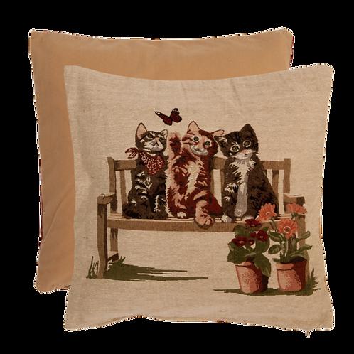 Entzückende Polster / Kissenhülle aus Baumwolle und Kunstfaser – 40 x 40 cm