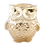 Thumbnail: EULE! Teelichthalter aus feinem Glas - 9 x 7 cm