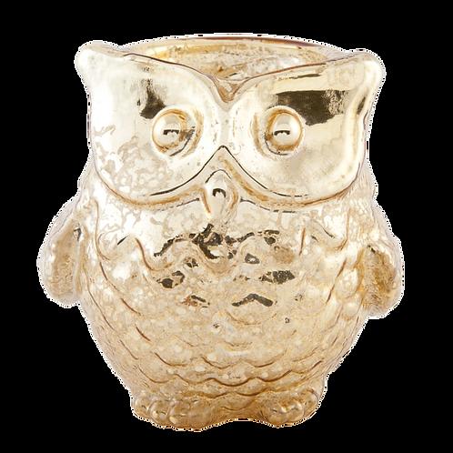 EULE! Teelichthalter aus feinem Glas - 9 x 7 cm