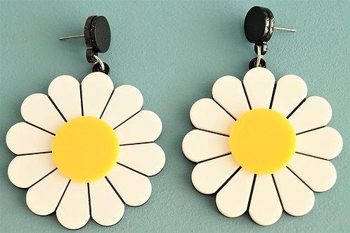 Acryl-Kunst - Blumen Ohrringe
