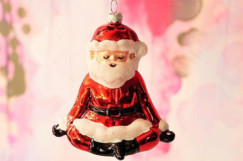 Entspannter Yoga-Santa  - genialer Christbaumschmuck