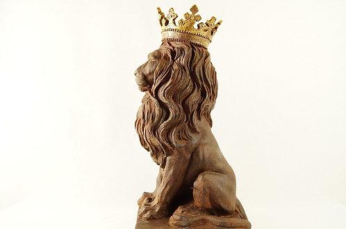 Figur - riesiger, majestätischer Löwe im imposanten Renaissance-Stil
