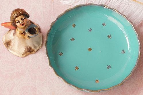 Gmundner Keramik – Schale im seltenen Türkis mit Sternen