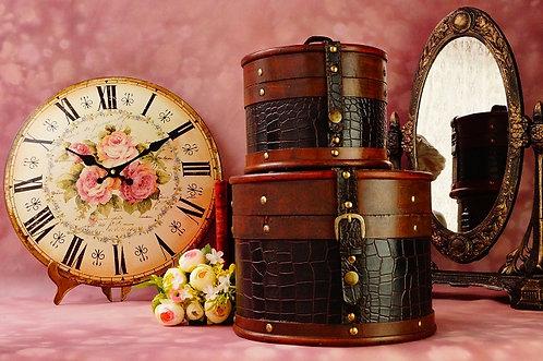 """2er Kofferset aus Holz """"Kroko rund"""" schöne Box"""