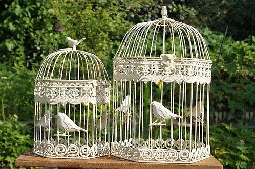 6-ECKIG! Romantischer Vogelkäfig im tollen Design! 2 Größen!