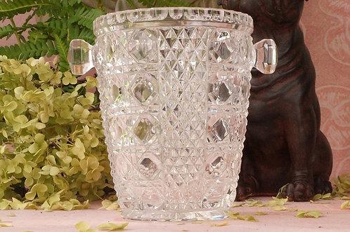 Alter Eiskübel aus Glas für Picollo - Flaschen
