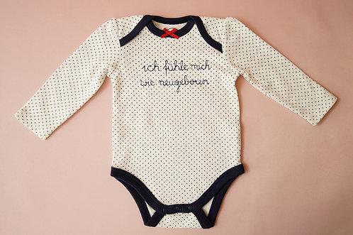 UNIKAT - Einzigartiger Statement-Babybody aus reiner Bio-Baumwolle von La Ra