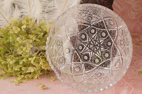 GENIAL! Alte Kristallschale mit reichem Schliff