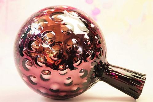 Rosenkugel aus Glas - mittlere Kugel - Höhe ca. 20 cm, DM ca. 15 cm