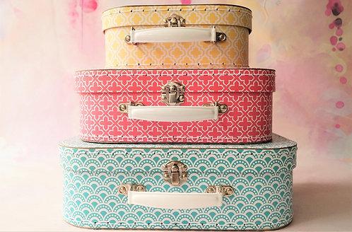 Geniale Koffer in Gelb, Pink und Blau – einzeln oder im Set Box