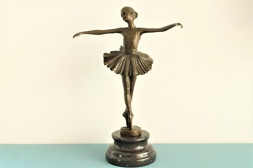Echte Bronze mit Marmorsockel! Wunderschöne Ballett Tänzerin – ca. 30 cm hoch