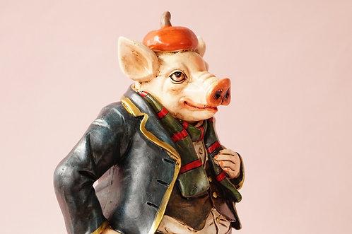 Figur Herr Schwein im Biedermeierstil