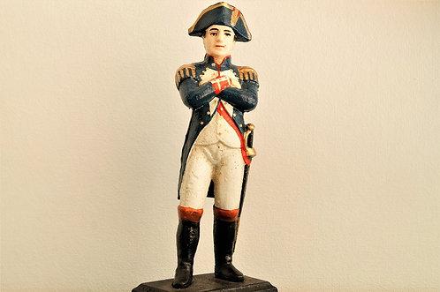 Handbemalte Statue von Napoleon aus Gusseisen – ca. 28 cm hoch