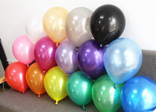 Latexballons Perlglanz ca. 30-35 cm - mit Ballongas befüllt
