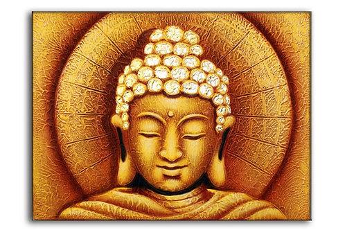 Originales, GROSSES Ölbild aus Bali! Buddha gold – ca. 80 x 60 cm
