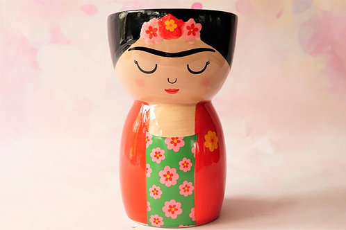 It´s FRIDA! Angesagte Frida Kahlo Vase aus Steingut