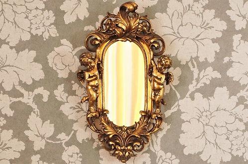 Entzückender Spiegel im Barock-Design mit 2 Engeln