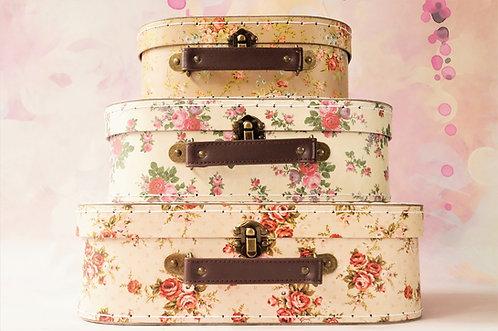 Geniale Koffer mit verträumten Rosendekor – einzeln oder im Set Box