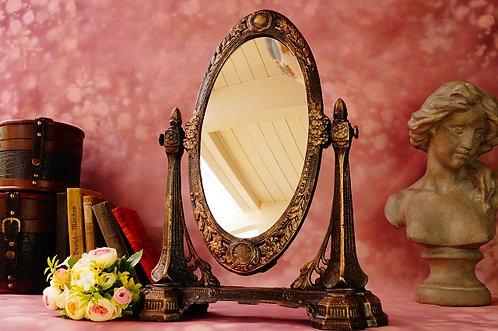 Großer Schminkspiegel / Kippspiegel im genialen, historischen Design! Höhe ca 45