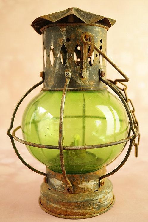 Alte, urige Petroleum Sturm- /Schiffs-Lampe