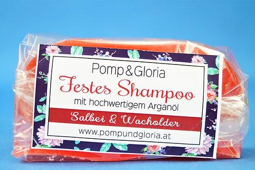 Festes Shampoo - Salbei-Wacholder speziell für dunkles Haar
