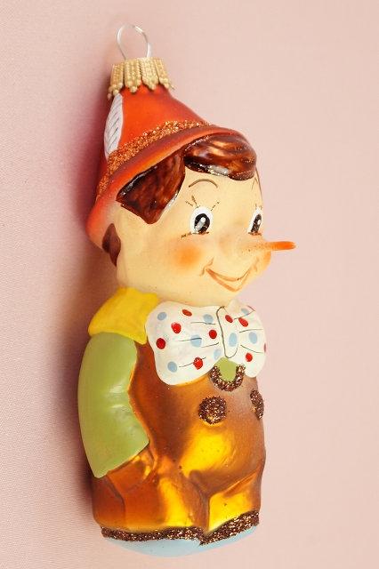 LAUSCHA Pinocchio – mundgeblasener und handbemalter Christbaumschmuck