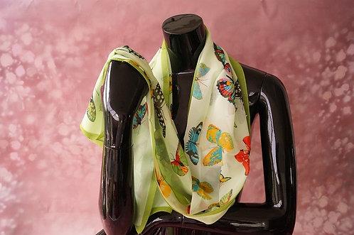 Eleganter Chiffonschal mit Schmetterlingen - 160 x 50 cm