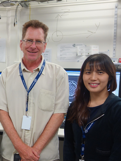 Shareen Chan with Prof. George Franks 2.