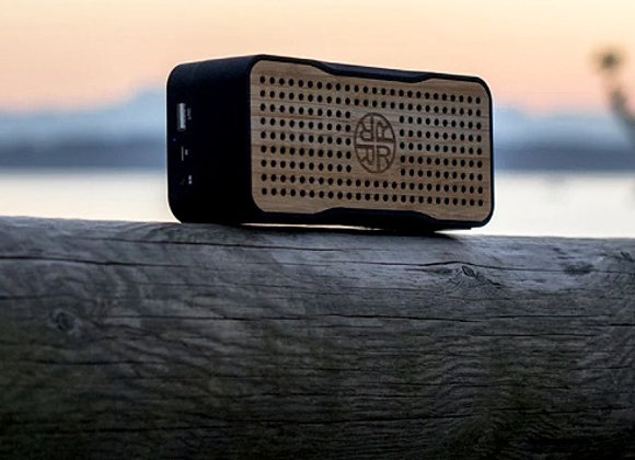 Bamboo Solar Bluetooth Speaker & Phone Charger