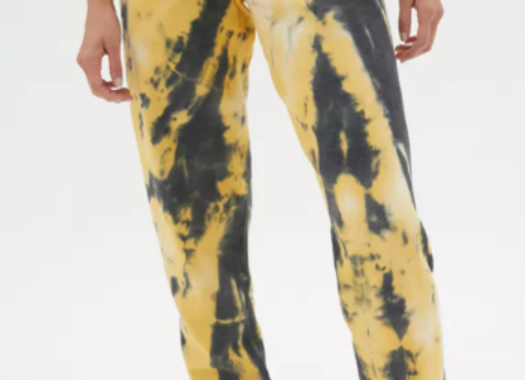 Urban Renewal Recycled Shattered Glass Tie-Dye Jogger