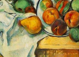 Table, Napkins & Fruit