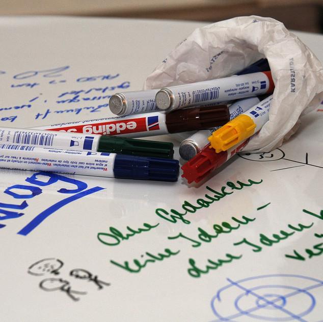 Ideensammlung beim Unternehmertag