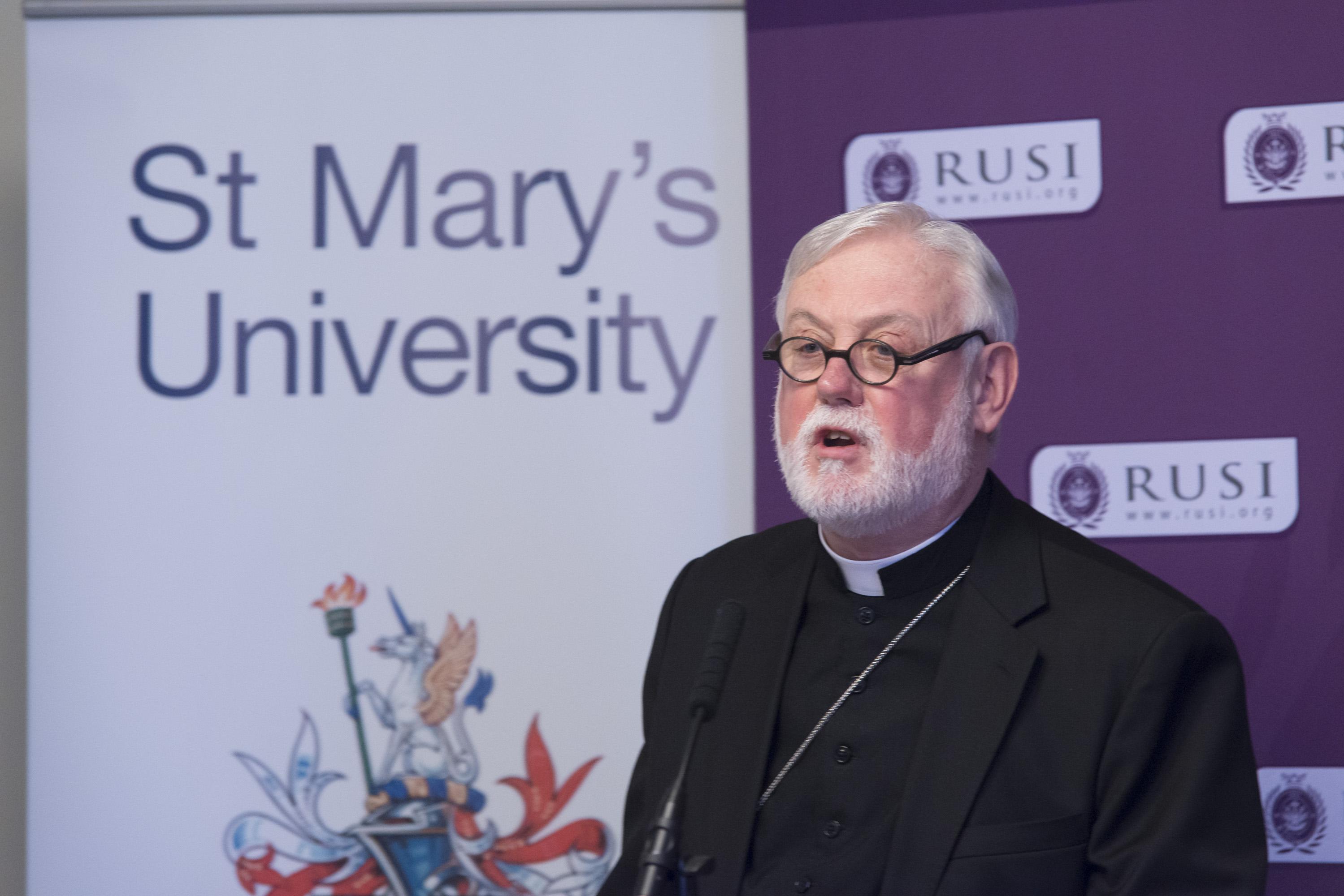 Archbishop Gallagher-RUSI Event 030316_TBM0378