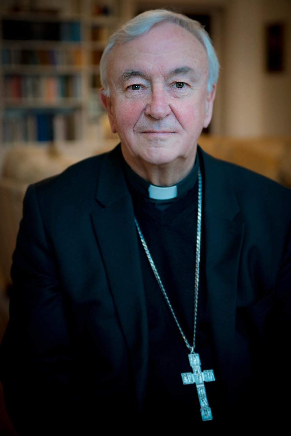 It was a great honour to visit Cardinal Vincent Nichols in his living room and take this portrait.
