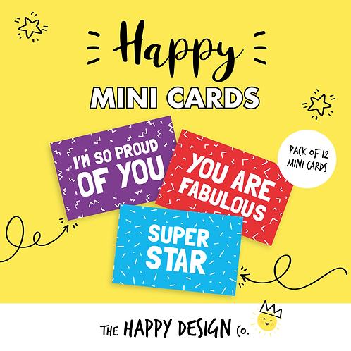 I'M SO PROUD OF YOU - HAPPY MINI CARDS x 12