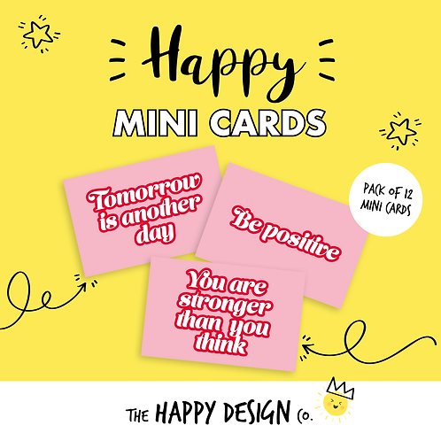 TOMORROW IS ANOTHER DAY - HAPPY MINI CARDS x 12