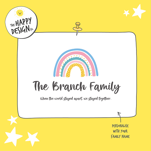 Rainbow Personalised A4 Picture (PRINTED)