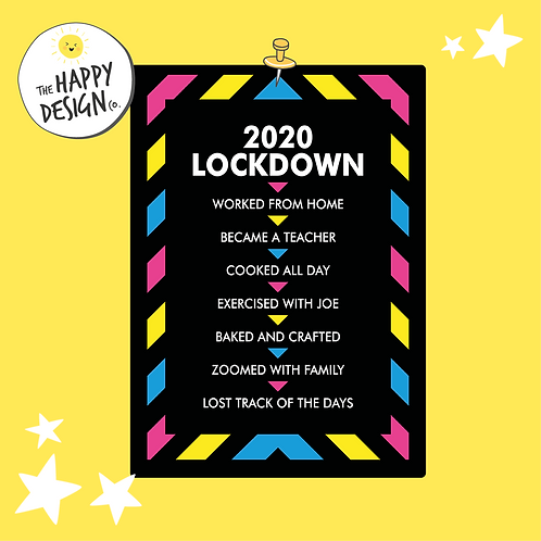 2020 Lockdown A4 Picture (PRINTED)