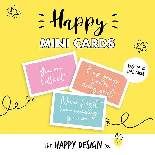 YOU ARE BRILLIANT - HAPPY MINI CARDS x 12