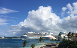 Cruise ships docked at Nassau Harbor