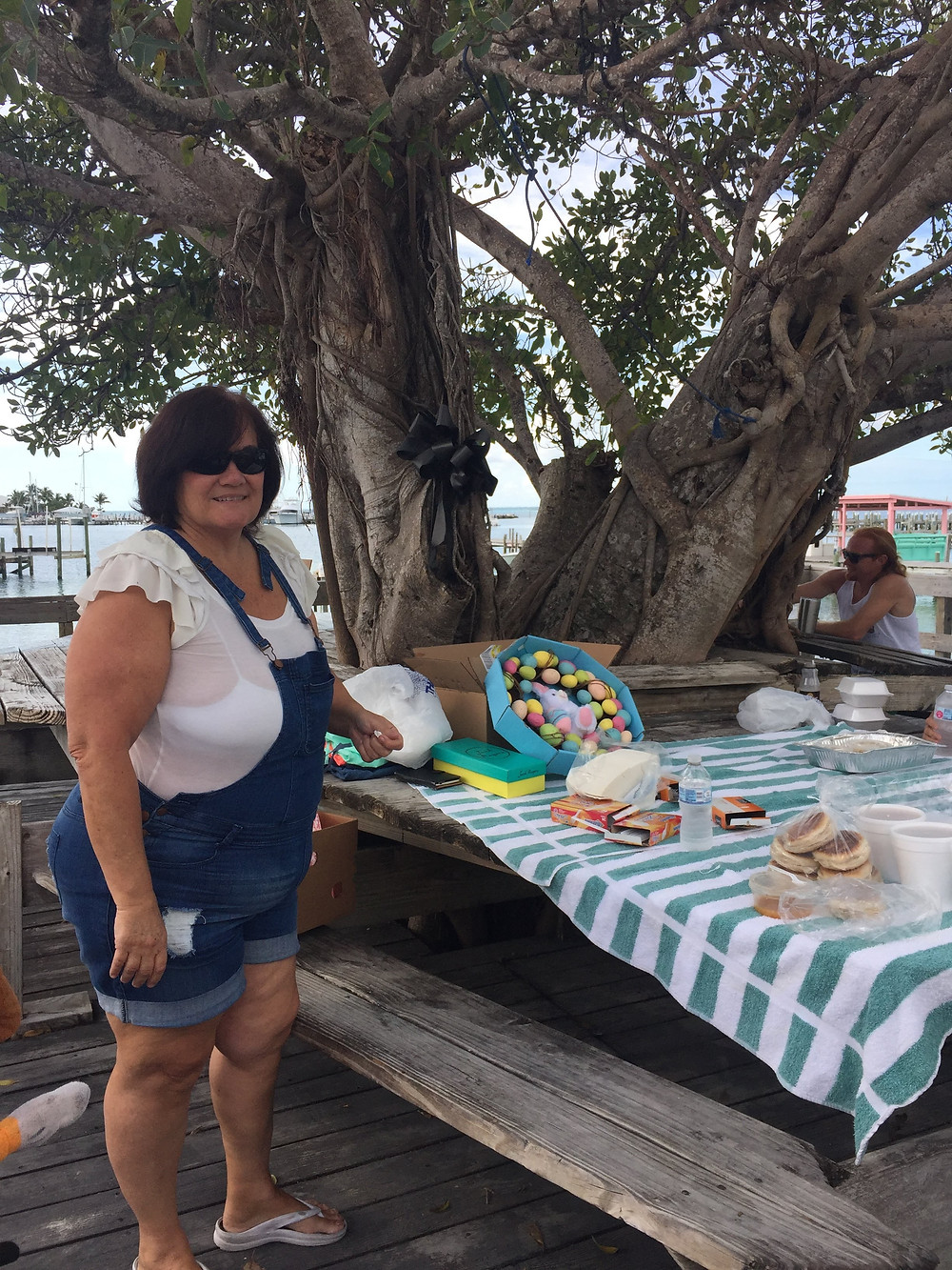 Selling goodies by the Fig Tree in Great Guana Cay, Abaco
