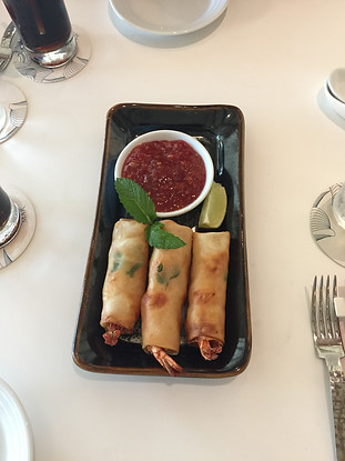 Shrimp Spring Rolls at Stix