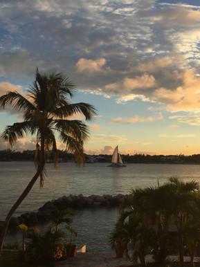 Sunset in Nassau Harbor