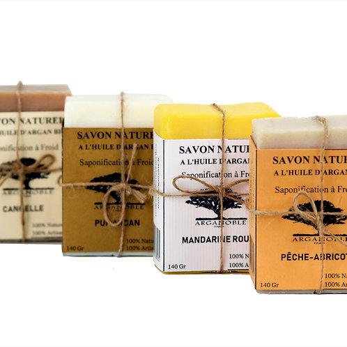 Lot de 4 savons naturels à l'huile d'Argan Bio