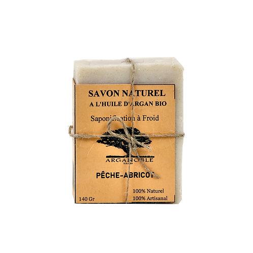 Savon naturel à l'huile d'Argan Bio - Pêche-Abricot