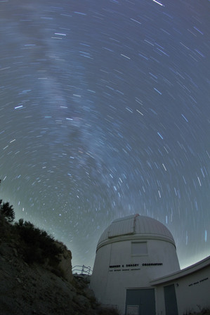 Milky Star Trails over Case Western