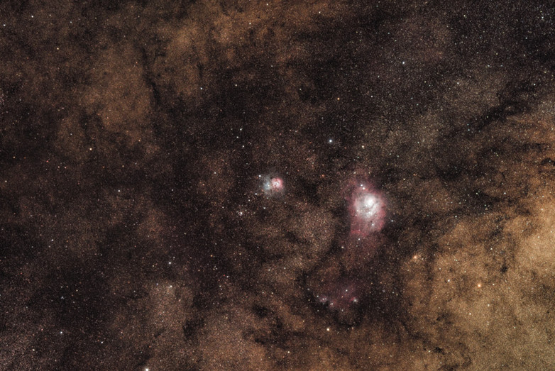 Lagoon and Trifid Nebula